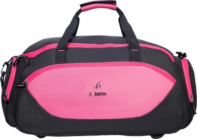 Istorm Delta pink and black Duffel Without Wheels Istorm Duffel Bags