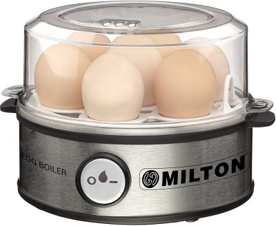 Milton Smart Egg Boiler - 360 Watt (Transparent and Silver Grey) - Boil Up to 7 Eggs Egg Cooker(Grey, 7...