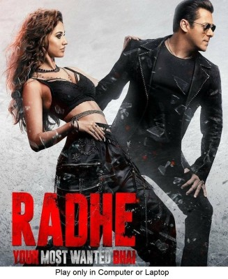 Radhe (2021) in Hindi it's DURN DATA DVD play only in computer or laptop it's not original without poster HD print quality(DVD Hindi)