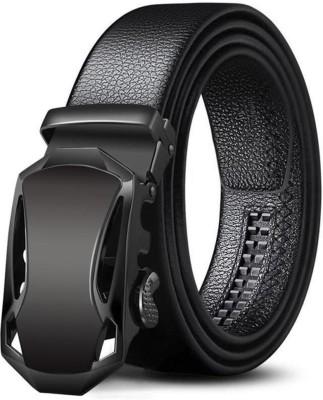 Elite Crafts Men Casual, Party, Formal, Evening Black Artificial Leather Belt
