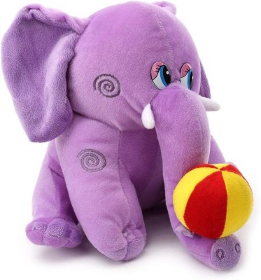 Tickles Elephant with Ball   10 inch Purple Tickles Soft Toys