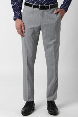 PETER ENGLAND Slim Fit Men Grey Trousers