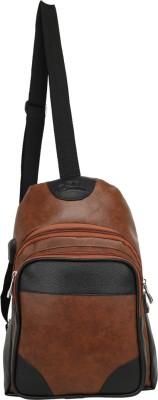 Leather Gifts Sling Bag Men Women Cross body Backpack 14 L Backpack(Brown)