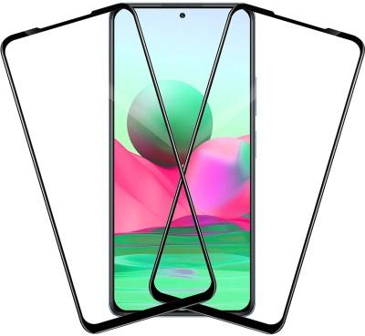 Dainty Edge To Edge Tempered Glass for Mi Redmi Note 10 Pro, Mi Redmi Note 10 Pro Max(Pack of 2)