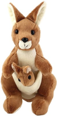 Tickles Kangaroo Mother and Baby   8 inch Brown, Cream Tickles Soft Toys