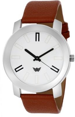 ABREXO Abx 0164 WHT BRN Basic elementary design Modest Series Analog Watch   For Boys ABREXO Wrist Watches