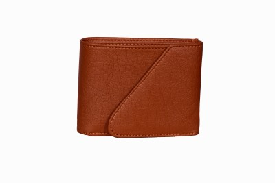 sskk Men Black, Tan Artificial Leather, Genuine Leather Wallet(5 Card Slots)