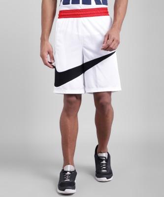 NIKE Self Design Men White Sports Shorts