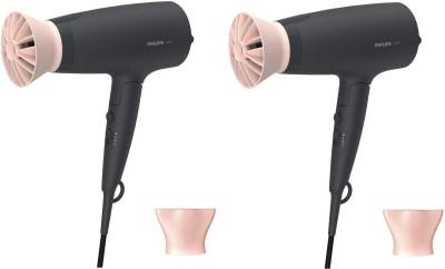 PHILIPS Professional Hair Dryer BHD356/10 pack of 2 Hair Dryer(2100 W, Black)
