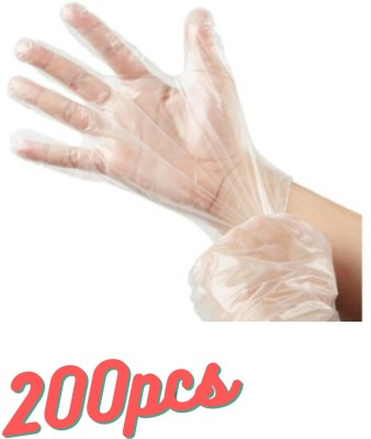 Mango People Disposable Clear Plastic Gloves Disposable Polyethylene Work Gloves Industrial Clear Vinyl Gloves for Cooking, Cleaning, Food Handling Plastic Disposable Gloves, Disposable Latex Free Plastic Food Prep Glove - One Size Fits Most | Food Handling BPA Free ComfortFlex Clear Polyethylene Gl