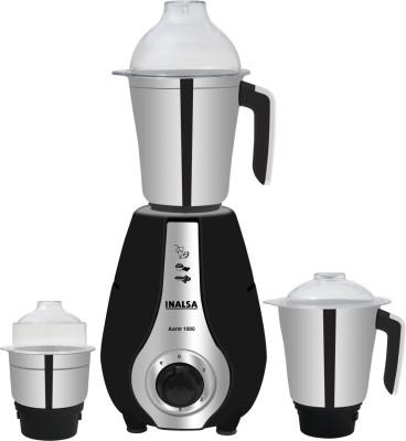 Inalsa by Inalsa 3 Jar Aarin 1000 W Mixer Grinder (3 Jars, Black)
