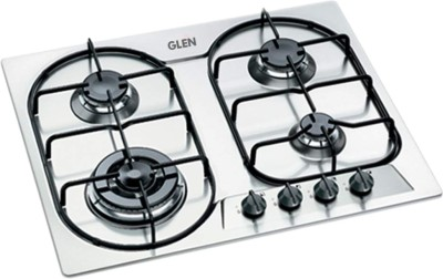 GLEN 4 Burner Built in Hob 1061 TR Stainless Steel Automatic Hob(4 Burners)