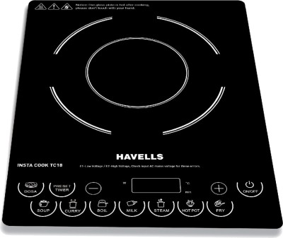 HAVELLS INSTA COOK TC18 Induction Cooktop(Black, Touch Panel)