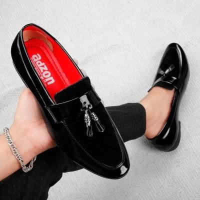 adzon 2046 Loafers For Men(Black)