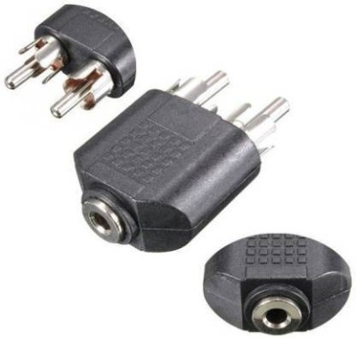 TheYxJal TV out Cable TV out Cable 2 RCA Male To 3.5 mm AUX Stereo Female Jack Connector 0 m RCA Audio Video Cable Black, For TV