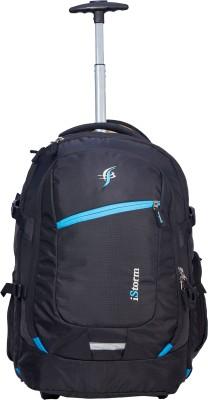 Istorm Backpack Overnighter Trolley Black & Skublue 45 L Trolley Laptop Backpack(Black)