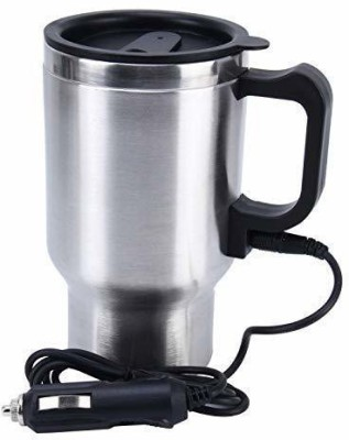 Z RED LIFESTYLE Steel Electric Car Cigarette Lighter Operated With Wire Plug Stainless Steel Coffee Stainless Steel Coffee Mug(450 ml)