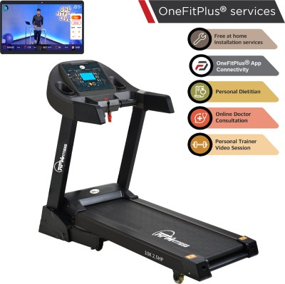 RPM Fitness 10K 2.5 CCC Certified Motorised with Max Weight 120Kg Free Home Installation & 1 Year OneFitPlus Membership Treadmill