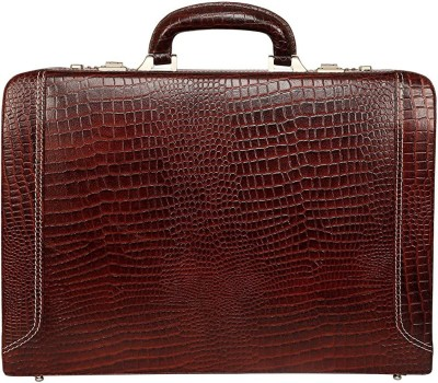 red cherry Genuine Leather Briefcase Laptop Compartment Expandable Features High-Security Combo Number Lock Briefcase Bag for Men Medium Briefcase Small...