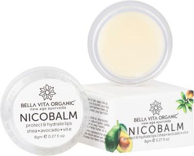 Bella vita organic NicoBalm Lip Balm For Women, Men, Boys & Girls To Hydrate Dry, Chapped, Damaged Lips Coconut Flavor (Pack of: 1, 8 g) Coconut Flavor(Pack of: 1, 8 g)