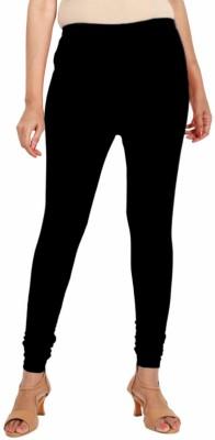 Lassie Apparels Churidar  Ethnic Wear Legging(Black, Solid)