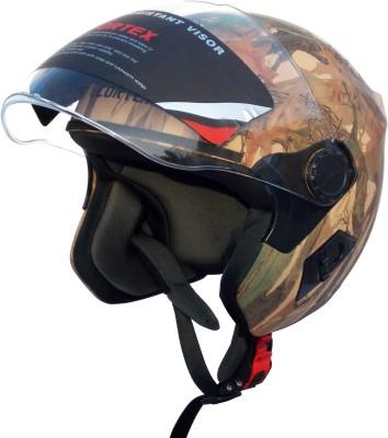 Cortex Wild Forest Hydro Graphic ISI -ABS Shell -Helmet Locking Hole-PC Visor Motorbike Helmet(Multicolor)