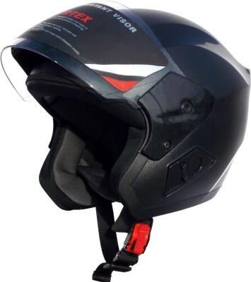 Cortex BLACK SV Hydro Graphic ISI -ABS Shell -Helmet Locking Hole-PC Visor Motorbike Helmet(Black)