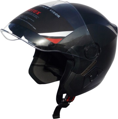 Cortex BLACK L V Hydro Graphic ISI -ABS Shell -Helmet Locking Hole-PC Visor Motorbike Helmet(Black)