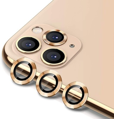 """GARHIL RETAILERS Camera Lens Protector for iPhone 11 Camera Lens Protector (6.1"""") [PACK OF 2] 9H Hardness HD Tempered Camera Protector Glass, Screen Protector High Definition Anti-Scratch Full Coverage Camera Metal Ring Ultra-Thin/Clear– Gold(Pack of 2)"""