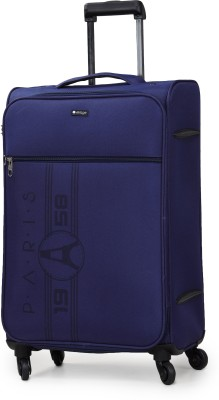 Verage Paris 70 Cms Blue Medium Check In Soft Suitcase Luggage Bag With 360 Spinner 4 Wheels Expandable Check-in Luggage...