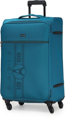Verage Paris 70 Cms Teal Medium Check In Soft Suitcase Luggage Bag With 360 Spinner 4 Wheels Check-in Luggage -...