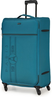 Verage Paris 79 Cms Teal Large Check In Soft Suitcase Luggage Bag With 360 Spinner 4 Wheels Expandable Check-in Luggage...