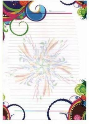 NSG Super One Side Ruled A4 80 gsm Multipurpose Paper(Set of 100, Multicolor)