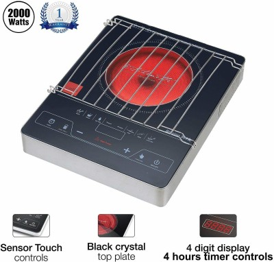 cello Blazing 500A Induction Cooktop(Black, Red, Touch Panel)