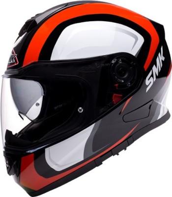 SMK TWISTER TWILIGHT Motorbike Helmet(Red, White)