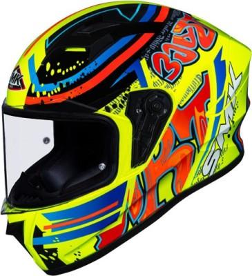 SMK STELLAR GRAFFITI Motorbike Helmet(Red, Orange, NEON)