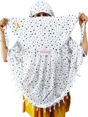 VICHARAN Printed Pure Cotton Women Fancy Scarf, Scarf