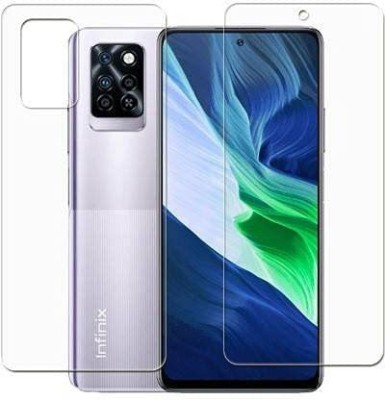 FIRST IMPRESSION Front and Back Tempered Glass for Infinix Note 10 Pro(Pack of 2)