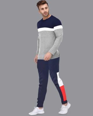 FastColors Solid Men Track Suit