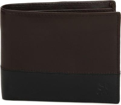 WOODLAND Men Black, Brown Genuine Leather Wallet 2 Card Slots