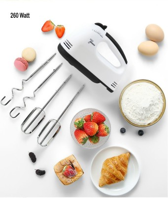Royatto Egg, Lassi, Butter Milk Maker, Cakes Hand Mixer 260 W Electric Whisk(White)