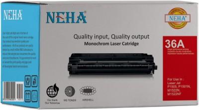 NEHA 36A TONER CARTRIDGE HP Laserjet   P1505, M1120 and M1522 MFP Black Ink Toner NEHA Toners