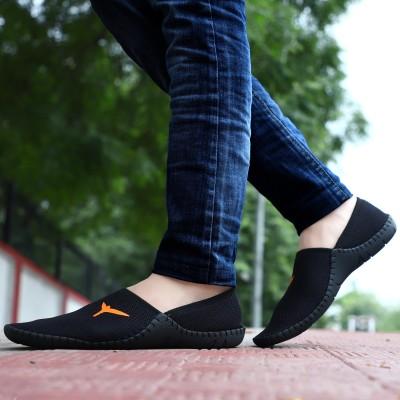 Robbie jones Casual Shoes Slip On Sneakers For Men(Black)