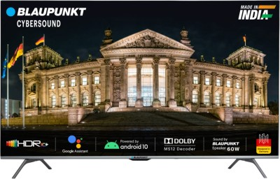 Blaupunkt Cybersound 139 cm (55 inch) Ultra HD (4K) LED Smart Android TV with Dolby MS12 & 60W Speakers(55CSA7090)
