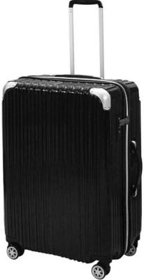 I CASE Luggage Suitcase Trolley Bag Black Expandable Cabin Luggage   20 inch I CASE Suitcases