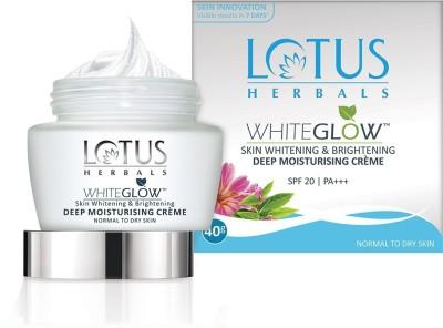 LOTUS HERBALS WhiteGlow Deep Moisturising cream, SPF 20, Face cream for Dry skin(60 g)