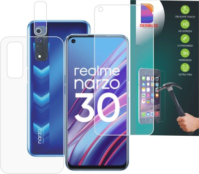 DESIBUZZ Front and Back Screen Guard for Realme Narzo 30, Camera Lens(Pack of 3)