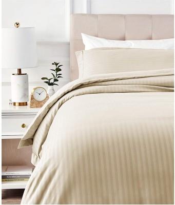 Flipkart SmartBuy Striped Double Comforter(Microfiber, Beige)
