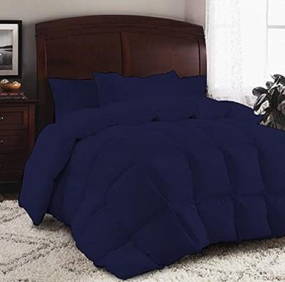 Flipkart SmartBuy Solid Double Comforter(Microfiber, Blue)