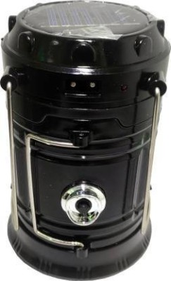 PRITI WORLD Solar Emergency Light Lantern Torch , Usb Mobile Charger, 3 Power Source Solar, Lithium Battery Black Glass, Stainless...